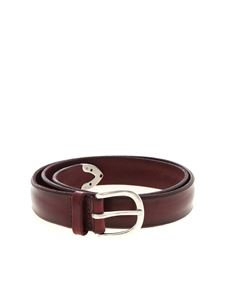 Orciani - Bull Soft belt in wine color
