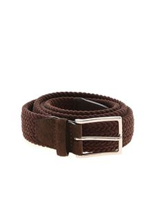 Orciani - Royal brown braided belt
