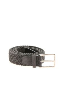 Orciani - Royal braided belt in grey