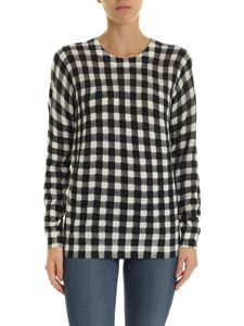 Michael Kors - Black and white pullover with checked pattern