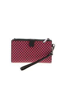 Michael Kors - Fuchsia and black wallet with logo