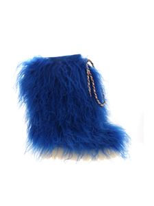 Casadei - Igloo boots in electric blue fur