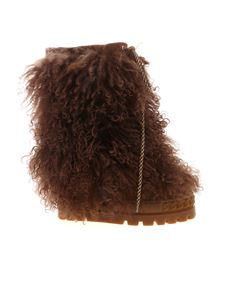 Casadei - Igloo boots in brown fur