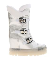 Casadei - Boots in silver color with hook detail
