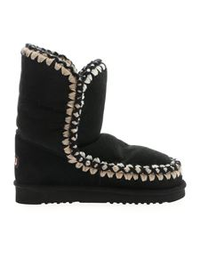 Mou - Eskimo 24 boots in black with cross
