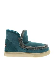 Mou - Eskimo boots sneakers in teal color