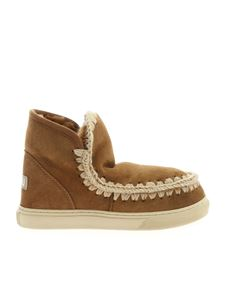 Mou - Eskimo Sneakers ankle boots in camel color