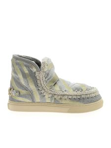 Mou - Eskimo Sneakers in silver and gold