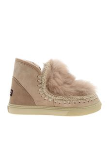 Mou - Eskimo Sneakers Front Fur in pink