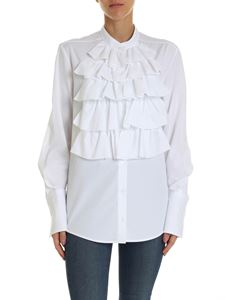 Dondup - White shirt with ruffles