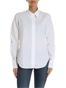 Calvin Klein - White shirt in stretch cotton