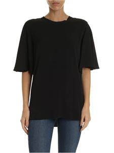 Calvin Klein - T-shirt in black viscose with wide sleeves