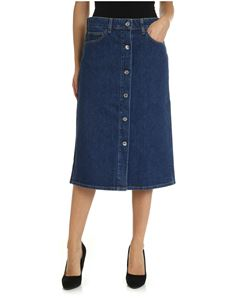 Calvin Klein - 5-pocket skirt in blue denim