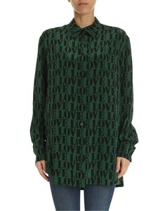 Calvin Klein - Love shirt in green silk