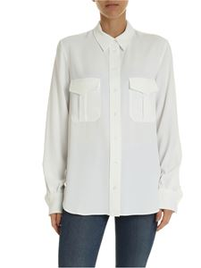 Calvin Klein - White shirt with pockets