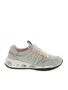 Premiata - Layla sneakers in gray and pink