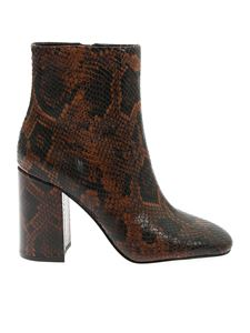 Ash - Jade ankle boots in brown and black