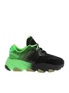 Ash - Extasy sneakers in black and fluo green