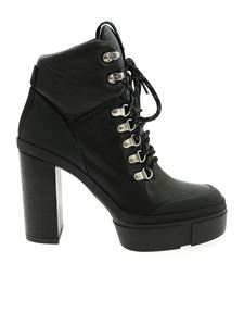 Vic Matiè - Logo ankle boots in black leather