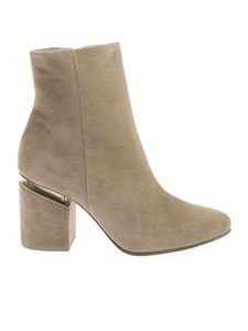 Vic Matiè - Suede ankle boot in Dove gray