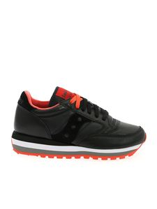 Saucony - Triple Jazz sneakers in black and coral red