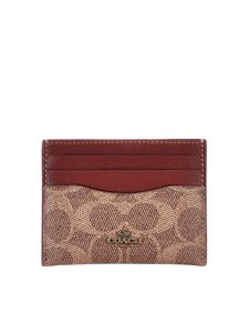 Coach - Signature card holder in brown