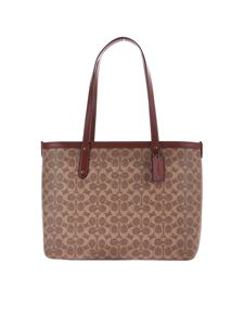 Coach - Large Central bag in brown Exclusive Canvas
