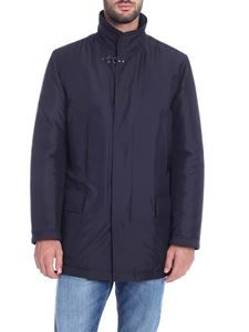 Fay - Double Front overcoat in blue