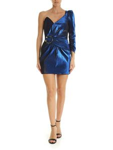 Elisabetta Franchi - Blue lamè single shoulder dress