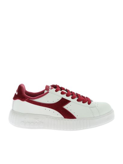 Sneakers Game Step Smooth bianche e bordeaux