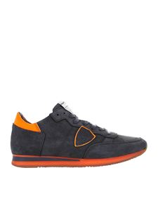 Philippe Model - Tropez L sneakers in grey and orange