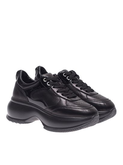 Hogan Carrie Over maxi i active sneakers in black - HXW4350BN51LMIB999