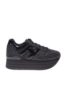 Hogan - H283 Maxi 222 sneakers in black glitter
