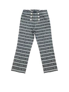 Balmain - Jeans in blue with Balmain print