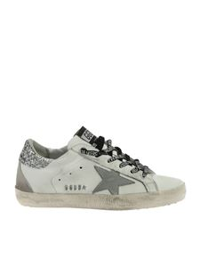 Golden Goose Deluxe Brand - Superstar sneakers in white with silver glitter