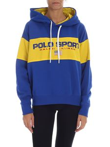 POLO Ralph Lauren - Electric blue and yellow sweatshirt with logo print