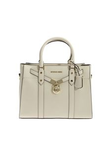 Michael Kors - Nouveau Hamilton large bag in cream color leather