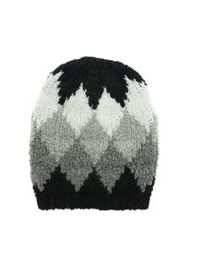 Woolrich - Flame beanie in black and shades of grey