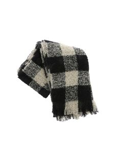 Woolrich - Bouclé scarf in beige and black