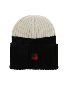 Woolrich - Black and white knit beanie