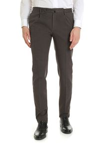 Incotex - Slim fit trousers in grey with check pattern