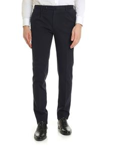Incotex - Slim fit trousers in blue with check pattern