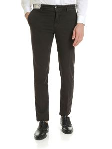 Incotex - Slim fit trousers in brown cotton