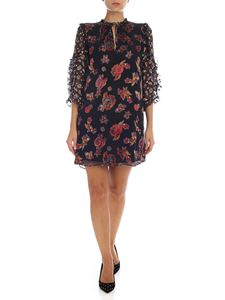 Alice + Olivia - Black dress with paisley pattern