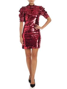 Alice + Olivia - Dress in burgundy sequins