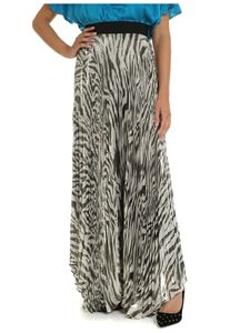 Alice + Olivia - Beige long skirt with animalier pattern