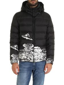Valentino - Time Travelers black print down jacket