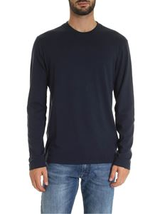 Zanone - Long sleeve t-shirt in blue