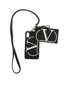 Valentino - I Phone X cover and Go Logo coin purse