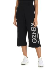 Kenzo - Black crop trousers with Kenzo print